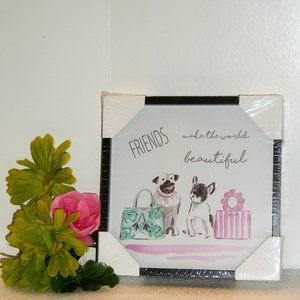 Other - FRIENDS MAKE THE WORLD BEAUTIFUL Framed Print NEW!